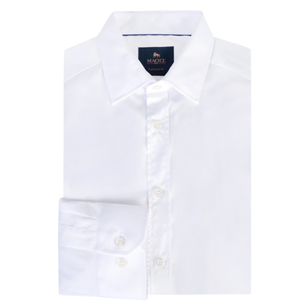 White Doonan Tailored Fit Formal Shirt  - Click to view a larger image