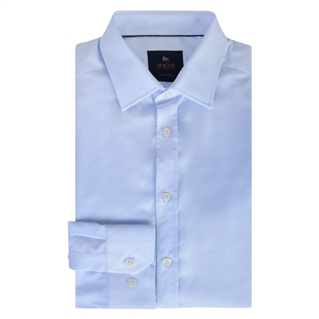Blue Doonan Tailored Fit Formal Shirt  - Click to view a larger image