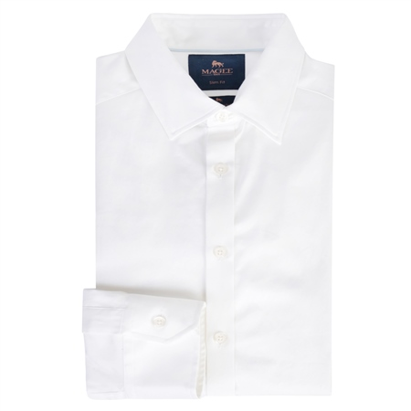 White Garvagh Slim Fit Formal Shirt  - Click to view a larger image