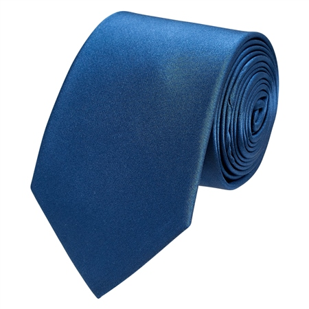 Navy Classic Silk Plain Tie  - Click to view a larger image