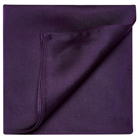 Purple Satin Silk Pocket Square  - Click to view a larger image