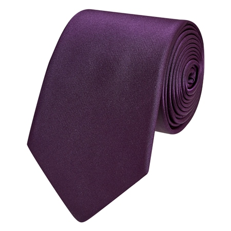 Purple Classic Silk Plain Tie  - Click to view a larger image