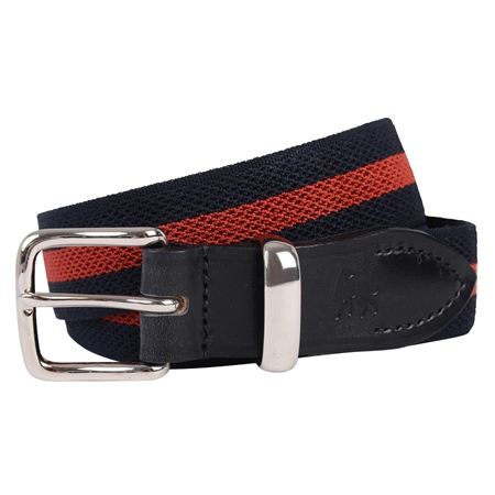 Navy & Red Bredon Handmade Belt  - Click to view a larger image