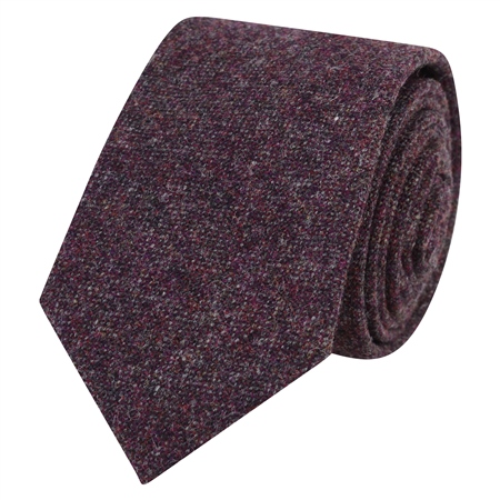Maroon Salt & Pepper Tie  - Click to view a larger image