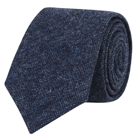 Navy Salt & Pepper Tie  - Click to view a larger image