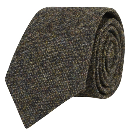 Green Salt & Pepper Tie  - Click to view a larger image