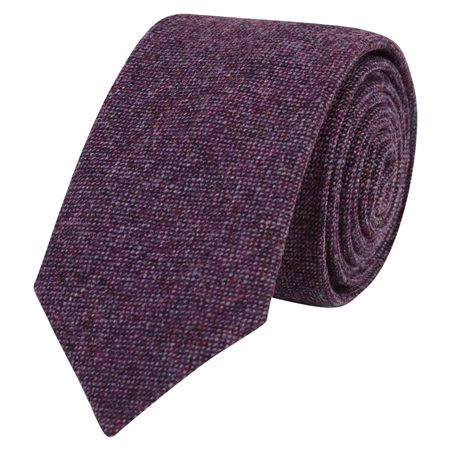 Purple Salt & Pepper Tie  - Click to view a larger image