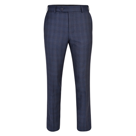 Navy Checked 3-Piece Tailored Fit Trouser  - Click to view a larger image