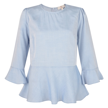 Blue Anne 3/4 Length Sleeve Top  - Click to view a larger image