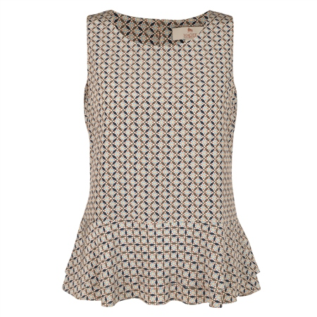 Liberty Print Darcy Peplum Silk Top  - Click to view a larger image