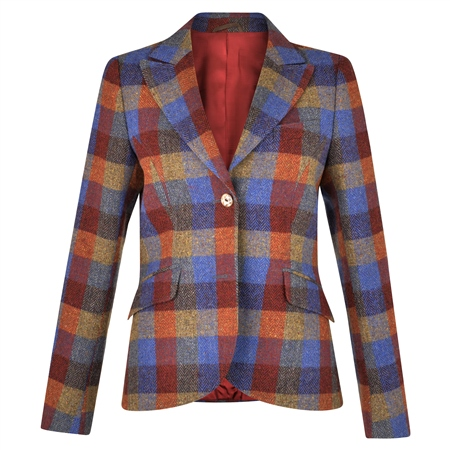 Patchwork Lily Donegal Tweed Jacket  - Click to view a larger image