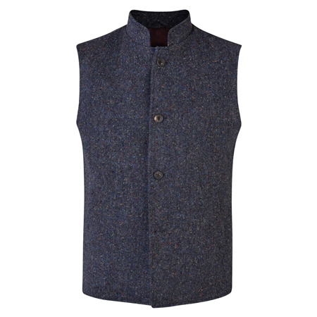 Navy Donegal Tween Cavan Tailored Fit Gilet  - Click to view a larger image