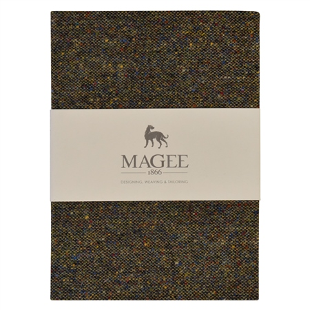 Green Donegal Tweed Salt & Pepper Magee Note Book A5  - Click to view a larger image