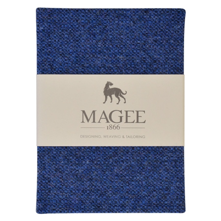 Blue Donegal Tweed Salt & Pepper Magee Note Book A6  - Click to view a larger image