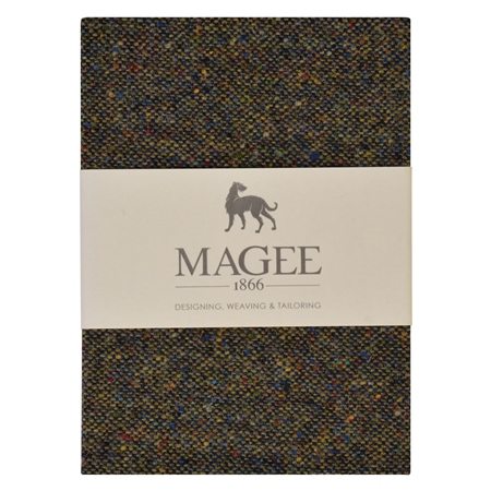 Green Donegal Tweed Salt & Pepper Magee Note Book A6  - Click to view a larger image