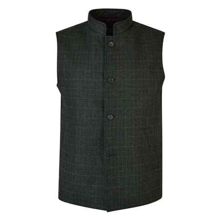 Deep Green Cavan Tailored Fit Gilet  - Click to view a larger image