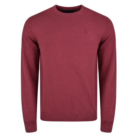 Raspberry Cotton Crew-Neck Jumper  - Click to view a larger image