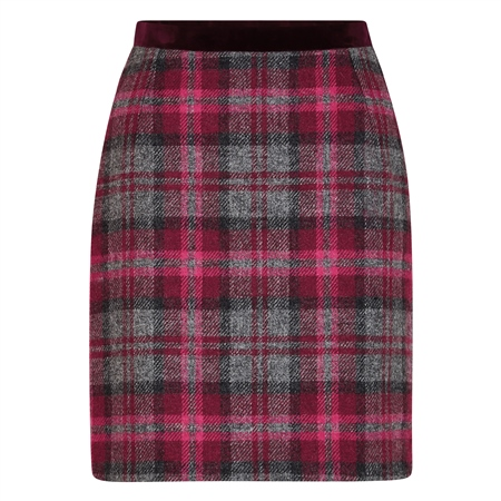 Pink Carey Donegal Tweed Skirt  - Click to view a larger image