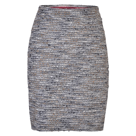 Grey, Black & Gold Carey Skirt  - Click to view a larger image