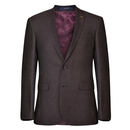 Mulberry Dot Weave Tailored Fit Jacket  - Click to view a larger image