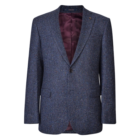 Navy Salt & Pepper Donegal Tweed Classic Fit Jacket  - Click to view a larger image