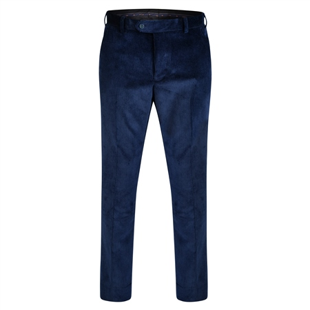 Blue Corduroy Classic Fit Trouser  - Click to view a larger image