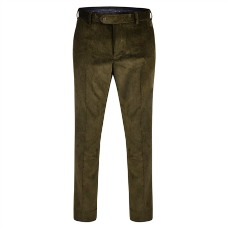 Green Corduroy Classic Fit Trouser  - Click to view a larger image