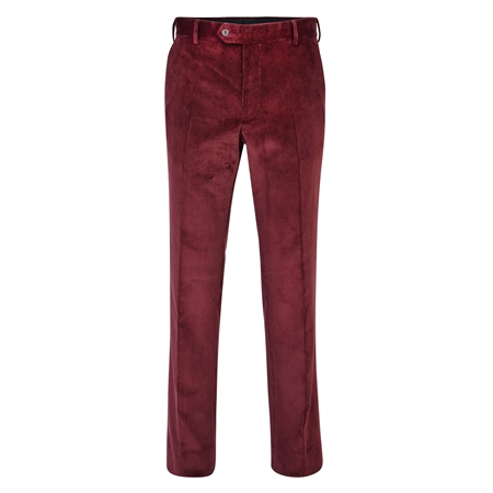 Maroon Corduroy Classic Fit Trouser  - Click to view a larger image