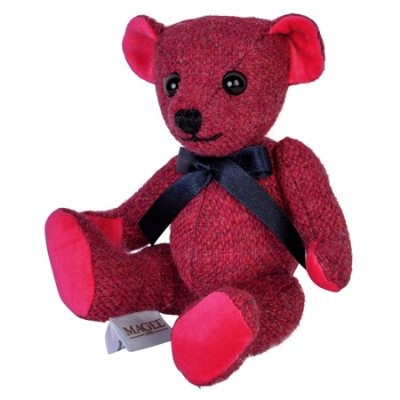 Pink Donegal Tweed Teddy Bear - Small   - Click to view a larger image