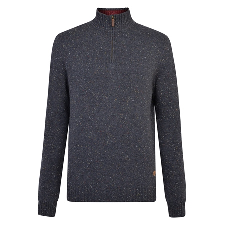 Grey Tamur Donegal Fleck 1/4 Zip  - Click to view a larger image