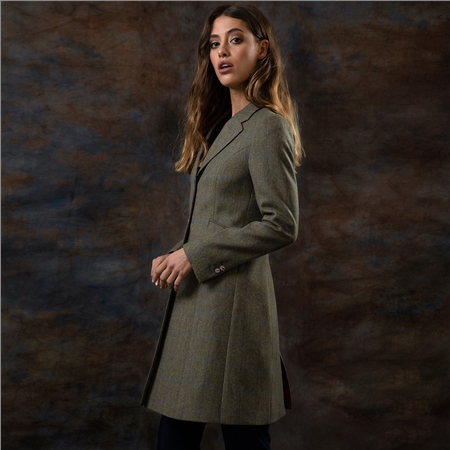 Green Grace Checked Tailored Fit Jacket  - Click to view a larger image