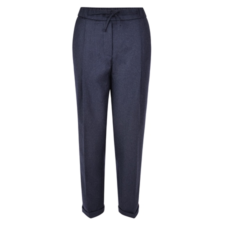 Navy Tina Wool Classic Fit Trousers  - Click to view a larger image
