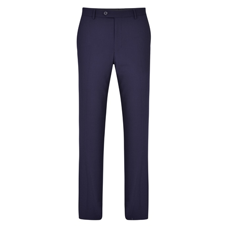 Navy Swilly Plain Front Tailored Fit Trousers  - Click to view a larger image