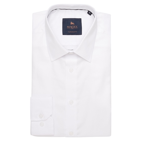 White Altahan Tailored Fit Shirt  - Click to view a larger image