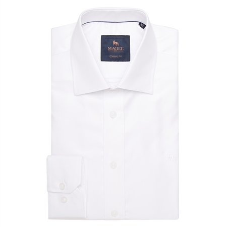White Formal Dress Collar Classic Fit Shirt  - Click to view a larger image