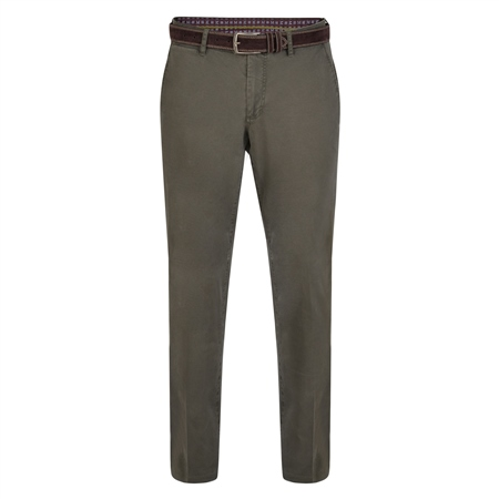 Olive Callan Washed Tailored Fit Trousers  - Click to view a larger image