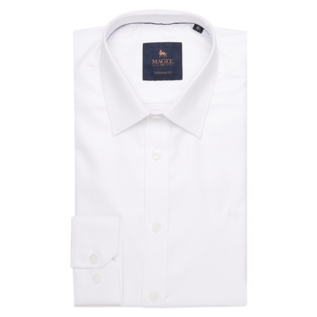 White Formal Dress Collar Tailored Fit Shirt  - Click to view a larger image