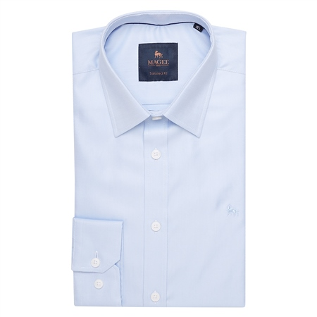Blue Formal Dress Collar Tailored Fit Shirt  - Click to view a larger image