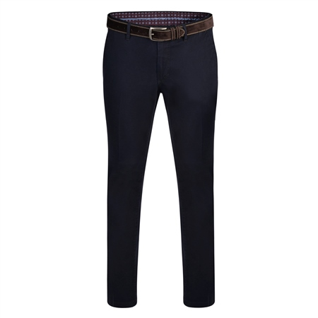 Dark Navy Dungloe Washed Classic Fit Trouser  - Click to view a larger image