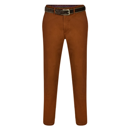 Copper Dungloe Washed Look Classic Fit Trouser  - Click to view a larger image