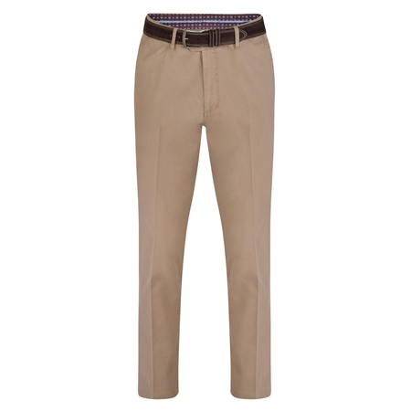 Beige Dungloe Washed Classic Fit Trouser  - Click to view a larger image