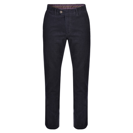 Navy Dungloe Needle Cord Classic Fit Trousers  - Click to view a larger image
