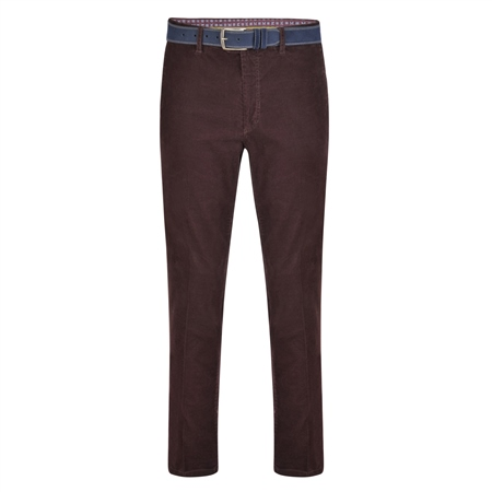 Plum Dungloe Needle Cord Classic Fit Trousers  - Click to view a larger image