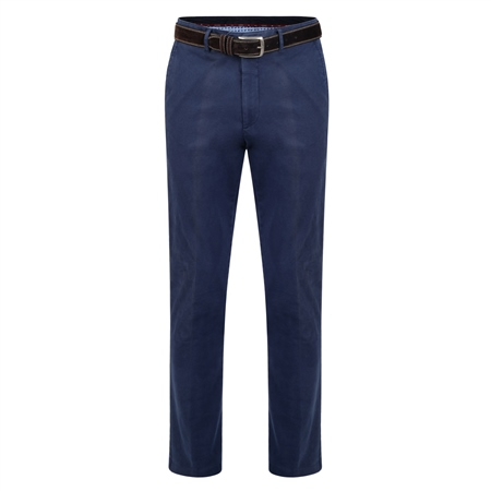 Navy Dungloe Washed Look Classic Fit Trouser  - Click to view a larger image