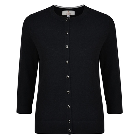 Black Beatrice Tailored Fit Cardigan   - Click to view a larger image
