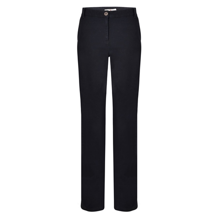 Navy Sandy Washed Tailored Fit Trousers  - Click to view a larger image