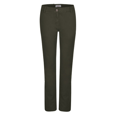 Olive Sandy Washed Tailored Fit Trousers  - Click to view a larger image