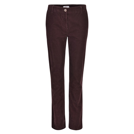 Plum Sandy Washed Tailored Fit Chino  - Click to view a larger image