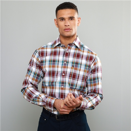 Multi-coloured Tullagh Button Down Classic Fit Shirt  - Click to view a larger image