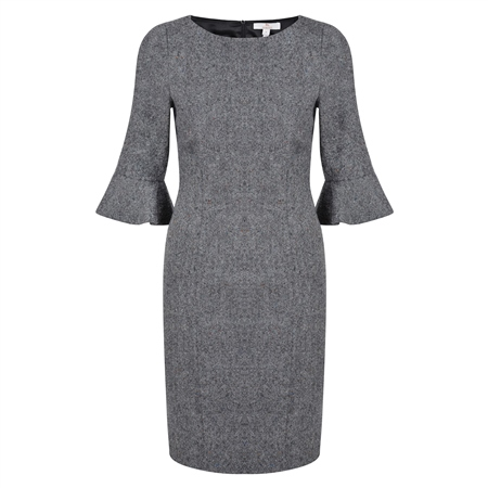 Grey Wool Martha Dress  - Click to view a larger image